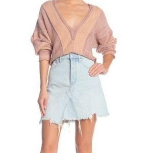 We The Free People Going Rogue Denim Skirt